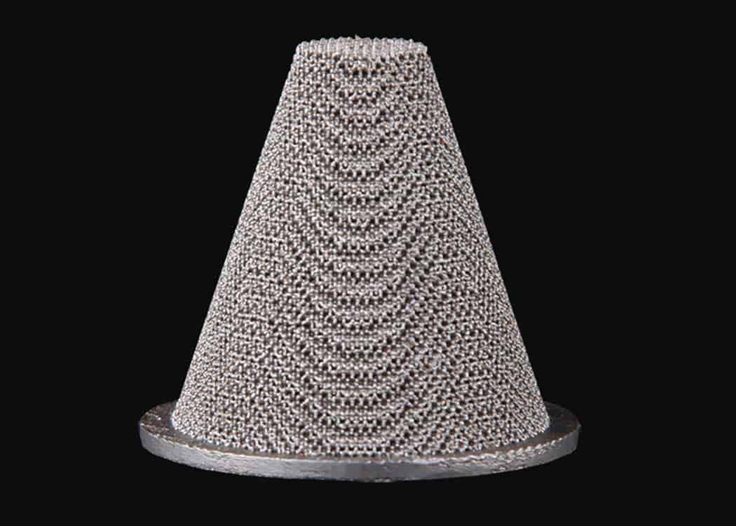 Additive Manufactured Cone Filter