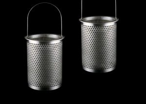 Perforated Baskets Lined with Wire Mesh
